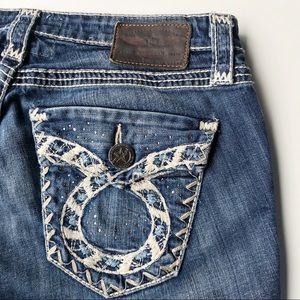 Big Star Liv Jeans Boot Cut Flap Pocket Size 28